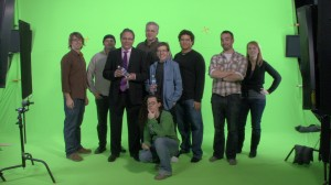 The Cuppa Coffee Broadcast Crew during our shoot with Lewis Black,   2007