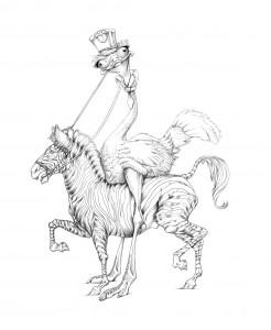 El Gleno Grande, circus Ostrich